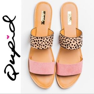 Qupid • Athena Animal Print Sandals